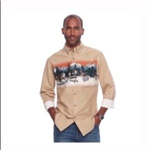 Classic fit twill outdoor button down shirt